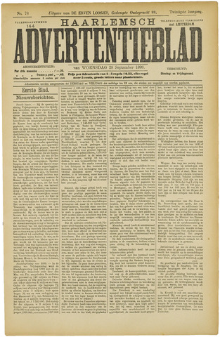 Haarlemsch Advertentieblad 1898-09-28