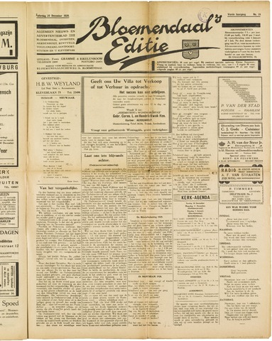 Bloemendaal's Editie 1928-12-29