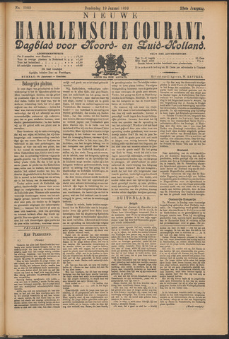 Nieuwe Haarlemsche Courant 1899-01-19