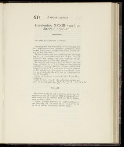 Raadsnotulen Heemstede 1923-08-16