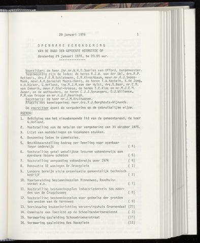 Raadsnotulen Heemstede 1976-01-29