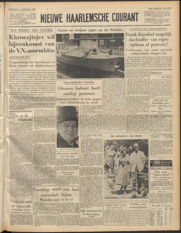 Nieuwe Haarlemsche Courant 1958-08-06