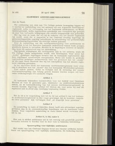 Raadsnotulen Heemstede 1960-04-28