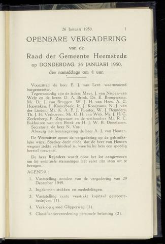 Raadsnotulen Heemstede 1950-01-26