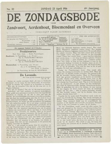 De Zondagsbode voor Zandvoort en Aerdenhout 1916-04-23