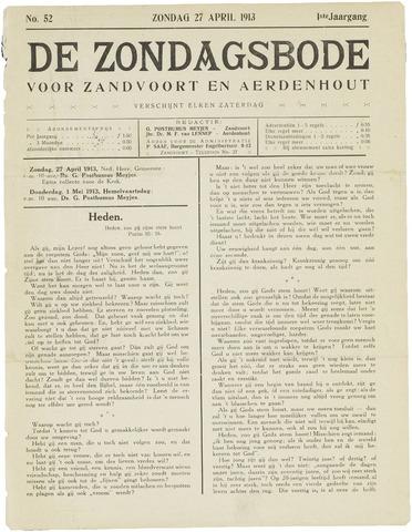 De Zondagsbode voor Zandvoort en Aerdenhout 1913-04-27