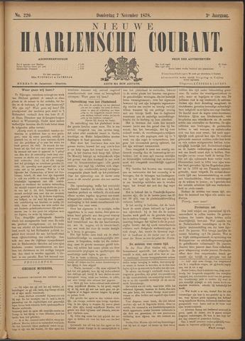 Nieuwe Haarlemsche Courant 1878-11-07