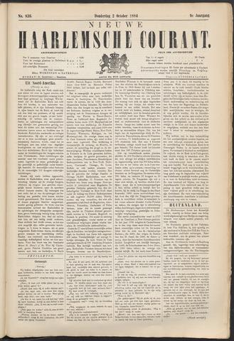 Nieuwe Haarlemsche Courant 1884-10-02
