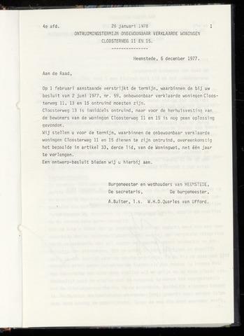 Raadsnotulen Heemstede 1978-01-26