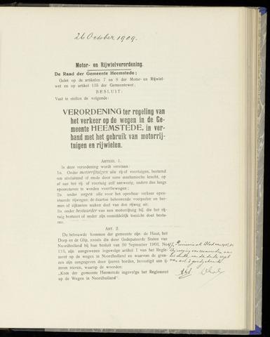 Raadsnotulen Heemstede 1909-10-26