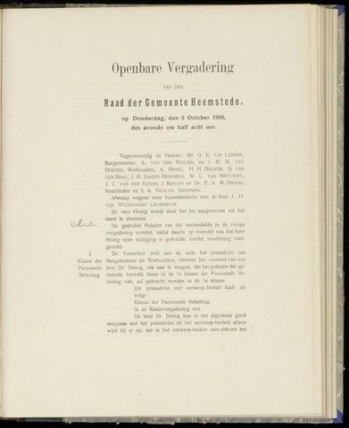 Raadsnotulen Heemstede 1908-10-08