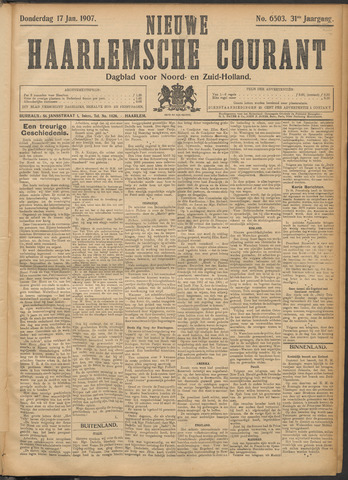 Nieuwe Haarlemsche Courant 1907-01-17
