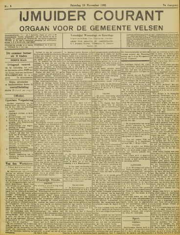 IJmuider Courant 1921-11-19