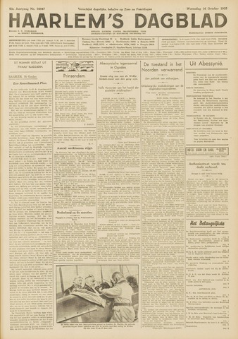 Haarlem's Dagblad 1935-10-16