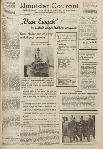 IJmuider Courant 1939-09-09