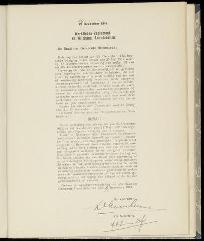 Raadsnotulen Heemstede 1914-12-30
