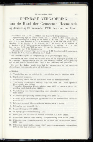 Raadsnotulen Heemstede 1968-11-28