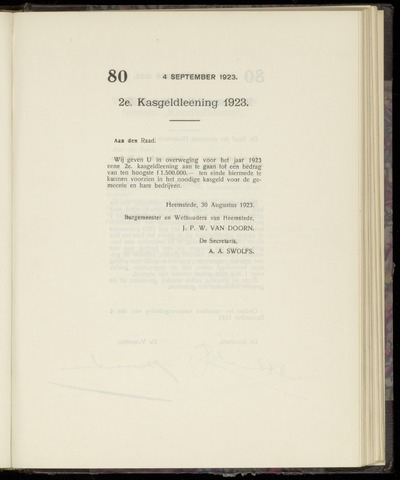 Raadsnotulen Heemstede 1923-09-04