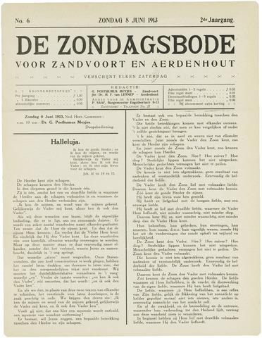 De Zondagsbode voor Zandvoort en Aerdenhout 1913-06-08