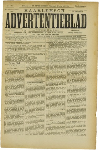 Haarlemsch Advertentieblad 1888-04-11