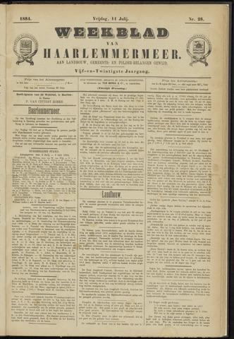 Weekblad van Haarlemmermeer 1884-07-11