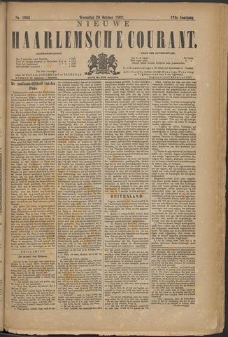 Nieuwe Haarlemsche Courant 1892-10-26