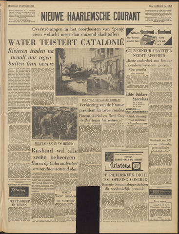 Nieuwe Haarlemsche Courant 1962-09-27