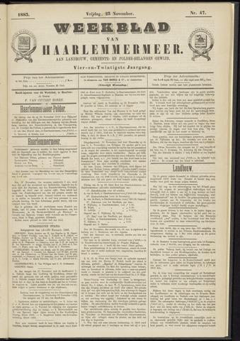 Weekblad van Haarlemmermeer 1883-11-23