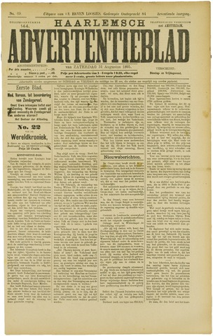 Haarlemsch Advertentieblad 1895-08-31