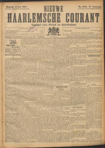 Nieuwe Haarlemsche Courant 1907-01-15
