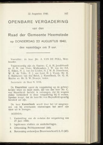 Raadsnotulen Heemstede 1940-08-22