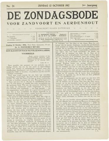 De Zondagsbode voor Zandvoort en Aerdenhout 1912-10-13