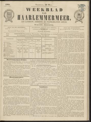 Weekblad van Haarlemmermeer 1868-05-22