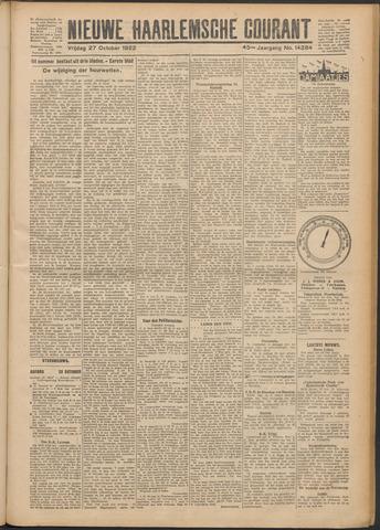 Nieuwe Haarlemsche Courant 1922-10-27