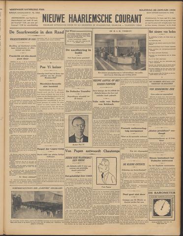 Nieuwe Haarlemsche Courant 1934-01-22