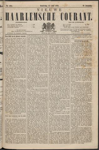 Nieuwe Haarlemsche Courant 1881-06-23