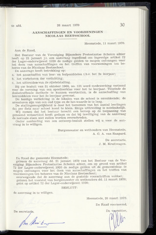 Raadsnotulen Heemstede 1970-03-26