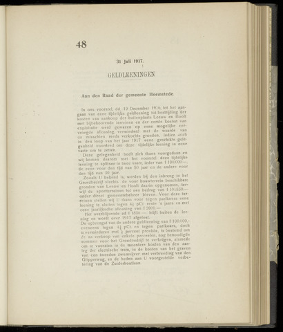 Raadsnotulen Heemstede 1917-07-31