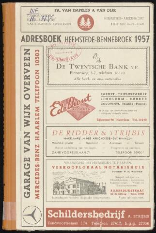 Adresboeken Heemstede, Bennebroek 1957