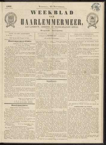 Weekblad van Haarlemmermeer 1868-11-13