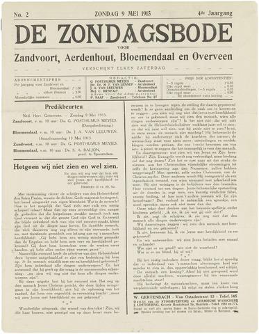 De Zondagsbode voor Zandvoort en Aerdenhout 1915-05-09