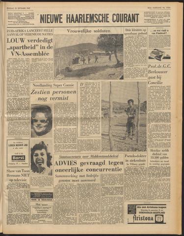 Nieuwe Haarlemsche Courant 1962-09-25