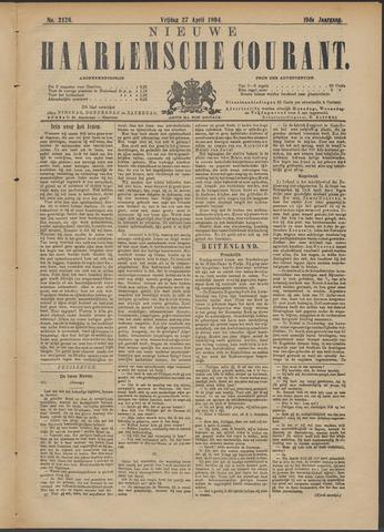 Nieuwe Haarlemsche Courant 1894-04-27