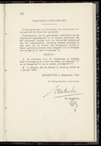 Raadsnotulen Heemstede 1942-09-09