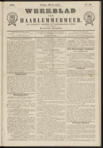 Weekblad van Haarlemmermeer 1872-11-29