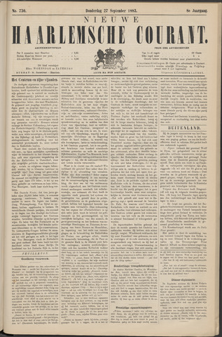 Nieuwe Haarlemsche Courant 1883-09-27