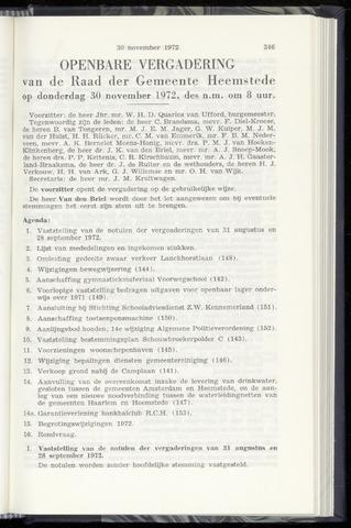 Raadsnotulen Heemstede 1972-11-30