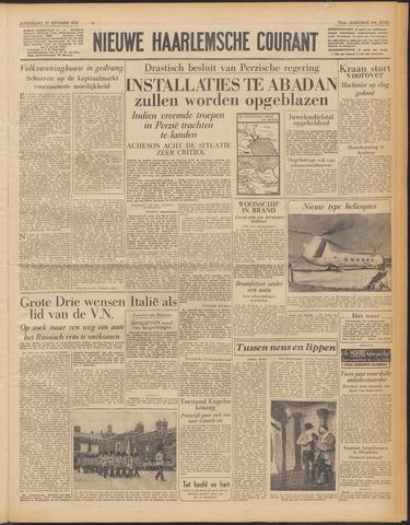 Nieuwe Haarlemsche Courant 1951-09-27