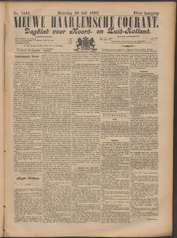 Nieuwe Haarlemsche Courant 1903-07-20