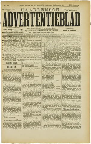 Haarlemsch Advertentieblad 1889-08-21